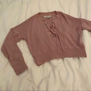 🌹4/16🌹XXI Cropped pink sweatshirt